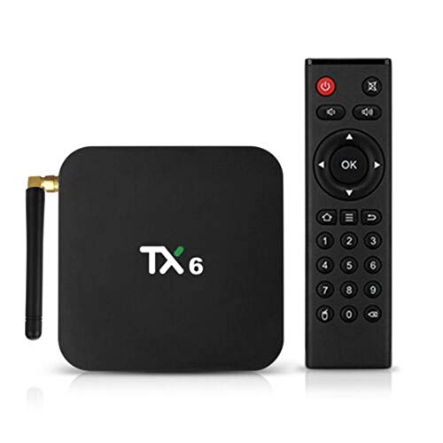 TV Box Android 9.1, TX6 4GB/32GB DDR3 Dual WiFi Quad Core 2.4Gh/5G Media Player