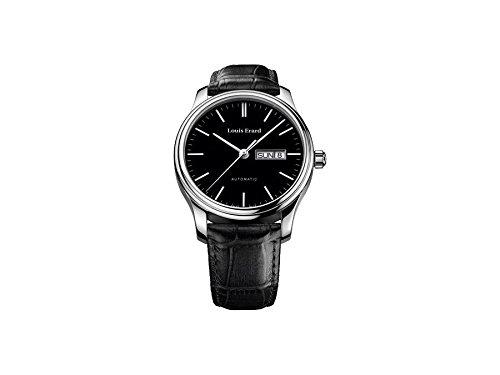 Louis Erard Men's Heritage Classique 40mm Black Leather Band Steel Case Automatic Watch 72268AA12.BDC02