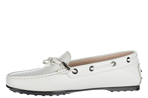Tods Lederen Damesslippers Mocassins Wit