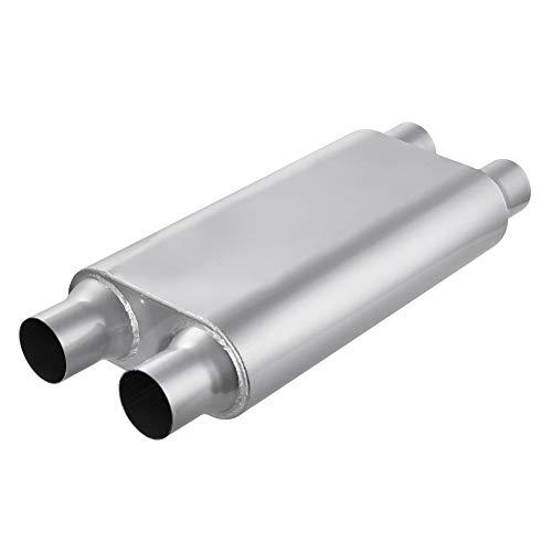 TOHUU Universal Chambered Mufflers,High Performance Stainless Steel Race Exhaust Muffler 2.5