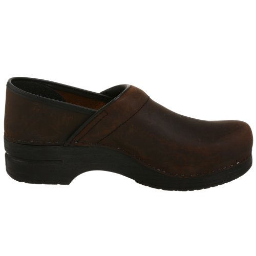 Dansko Hombres Professional Oiled Leather Clog Antique Brown - Cuero Aceitado Negro