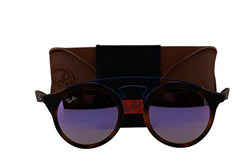 Ray-Ban RB4256 New Gatsby Small Sunglasses Matte Havana w/Mirror Gradient Lilac Lens 6266B0 RB - Ray Glasses Ban Nerd