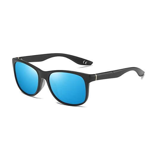 BE006 Sport Lunettes Polarisées Lunettes Frame BLEVET Ice Hommes Soleil UV400 Femmes Black Classique Blue Lens de de zFwwP0