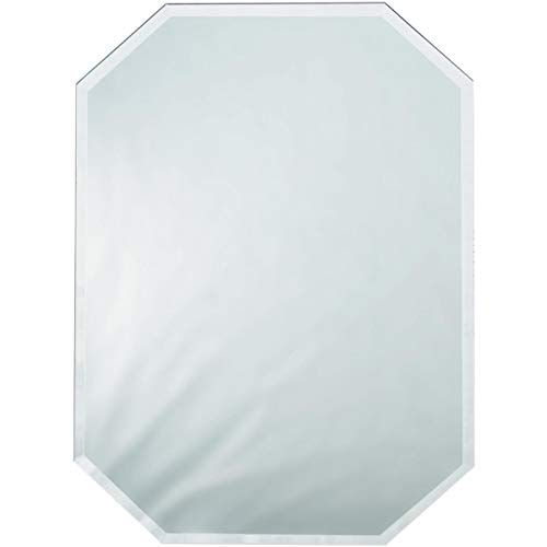 Darice Octagon Glass Mirror Placemat with Bevel Edge 12 X 18 Inches (2 Pack) (Mirror Mats Table)