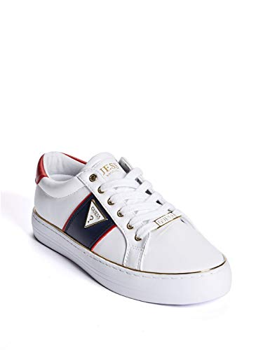 GUESS Factory Women's Gilda Logo Low-Top Sneakers White Multi from GUESS Factory