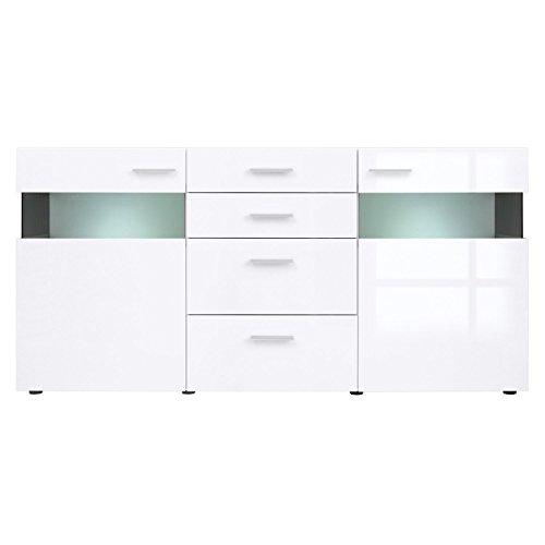 ContempStyle S188-KOM2W4S.9.18-BI.Bip Desert 2-Glass Door 4-Drawer Sideboard (2 Door/4 Drawer)