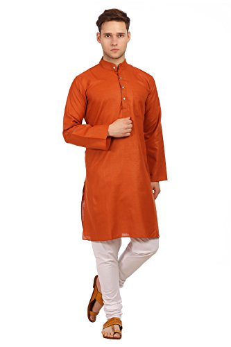 Wintage Men's Cotton Silk Festive and Casual Red Kurta Pyjama by WINTAGE