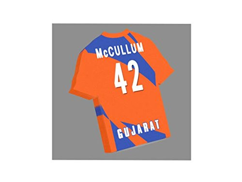 a0d10726cc0 FanPlastic IPL INDIAN PREMIER LEAGUE CRICKET JERSEY SHAPED MAGNETS - You  choose the name, number and team colours - FREE PERSONALISATION!!! (Gujarat  Lions)