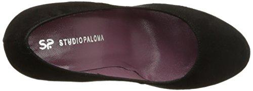 Studio Paloma 18782 - Zapatos de Vestir de terciopelo mujer negro - Noir (Ante Negro)