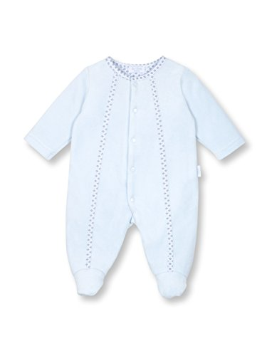 Le Top Bebe Treasured Baby Boy Footed Velour Jumpsuit Onesie-NB (Le Top Velour Overalls)