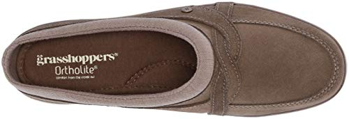 Women's Suede Mule Grasshoppers Clog Brown Cruise w18wHqd7