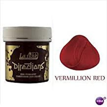 Directions hair dye color vermillion red semi permanent hair colour by Directions