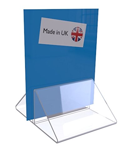 Bars EPOSGEAR 100mm Menu Show Card Acrylic Name Place Table Sign Display Stand Holders Weddings Black, 1 Holder Perfect for Shops Parties etc Restaurants