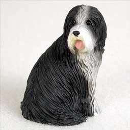Bearded Collie Miniature Dog Figurine