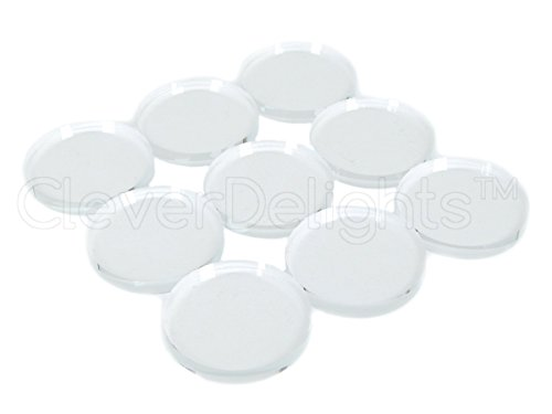 20 CleverDelights Round Glass Tiles - 1 3/16