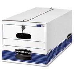 ** Stor/File Storage Box, Letter, Button Tie, White/Blue, 12/Carton **