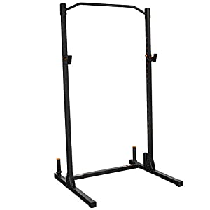 GRIND Fitness Alpha1000 Squat Stand, Exercise Rack with Barbell Holder and Weight Plate Storage Pegs, 2×2 Steel Uprights, 1000 lbs Weight Limit…