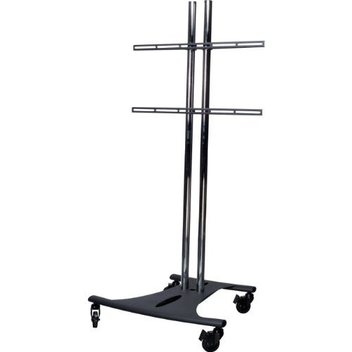 Mobile Cart Dual Poles and Fixed Universal Mounting Arm for Flat Panel ()