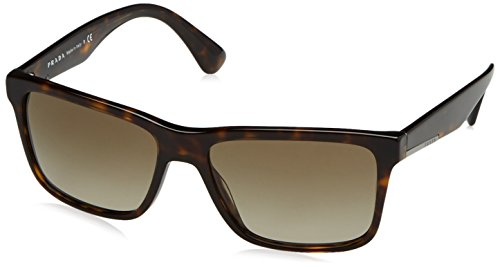 Prada PR19SS Sunglasses 2AU1X1-59 - Havana Frame, Brown - Sunglasses Prada Rectangular
