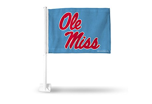 NCAA Mississippi Ole Miss Rebels Car Flag, Light Blue, with Black ()