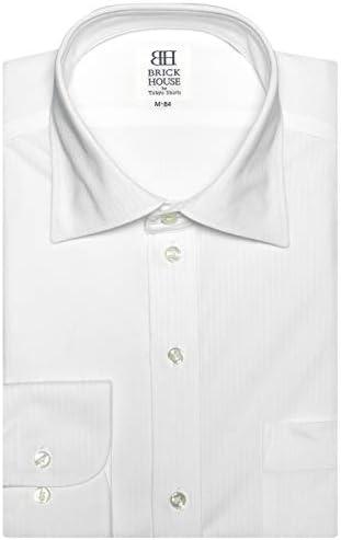 ブリックハウス ワイシャツ 長袖 形態安定 ビズポロ ニットシャツ ワイド スリム メンズ BM010200AC11W1N-90
