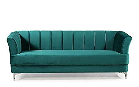 Fabulous Divano Roma Furniture Elegant Classic Living Room Velvet Sofa Colors Blue Green Grey Red Green Interior Design Ideas Oxytryabchikinfo