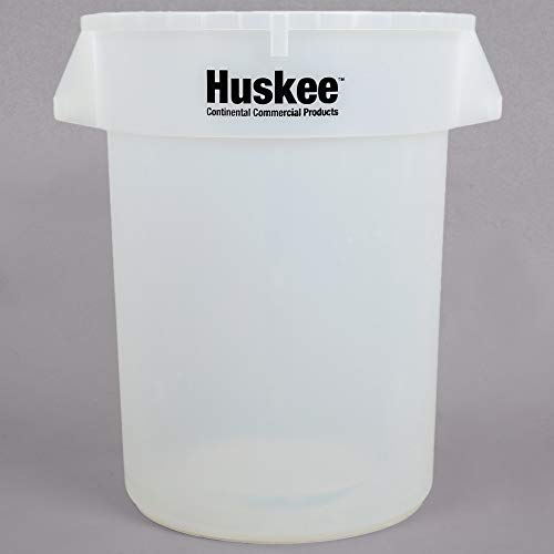 TableTop King 3200CL Huskee 32 Gallon Clear Ingredient Bin/Trash Can