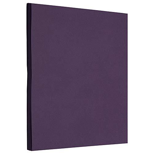 JAM PAPER Matte 28lb Paper - 8.5 x 11 - Dark Purple - 50 Sheets/Pack