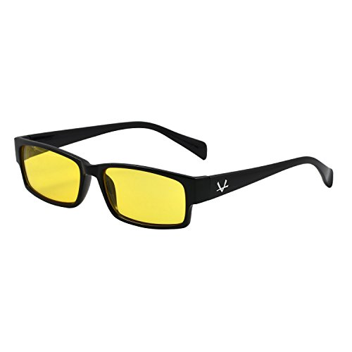 OX Legacy Elite Blue Light Blocking Glasses, Yellow Lens, Thin Computer - Sunglasses Yellow Light