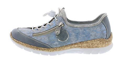 heaven scarpe silverflower argento Rieker Pantofola 12 slip Moda on Adria alla Donna Casuale N4263 11qn7vT