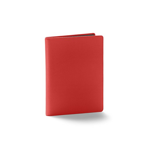 Leatherology Folder with Pockets & Pen Holder - Full Grain Leather Leather - Scarlet (red) by Leatherology