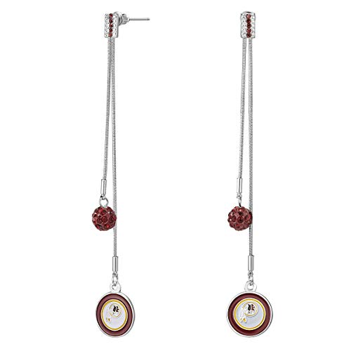 Earrings Primary Logo (Pro Specialties Group NFL Washington Redskins Dual Strand Shambala Earrings)