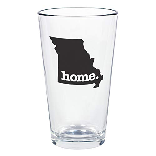 """Home State Apparel Set of 4 Missouri""""home."""" Pint Glasses"""