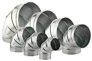 "product image for HVAC Duct Elbow - Adjustable Stove Pipe Elbow (Galvanized) (10"")"