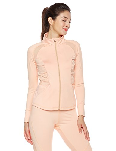 Mint Lilac Women's Active Performance Full-Zip Jacket Large Peach
