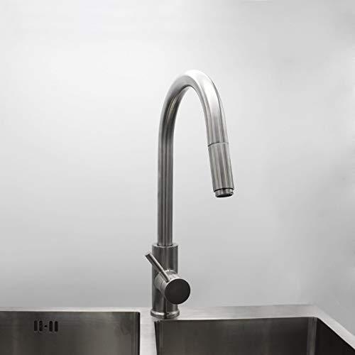 Decorry 304 Dehnbare Edelstahl Küchenarmatur Mischhahn Kalten Küchenarmatur Blei Teleskopischen gemäße Becken Gerade Ziehen