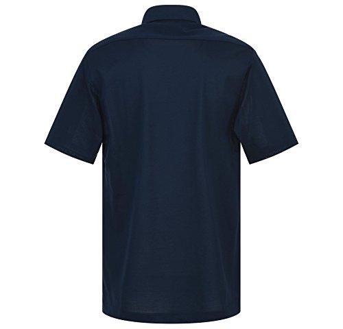 Eterna Herren Polo Shirt Kurzarm Kurzarmshirt Freizeithemd Kurzarmpolo Poloshirt Polohemd Hemden Hemd Comfort Fit Blau Gr. XXL/46