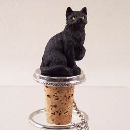 (Conversation Concepts Black Shorthaired Tabby Cat Bottle Stopper (Set of 6))