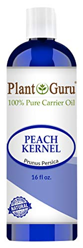 Peach Kernel Oil 16 oz. 100% Pure Natural - Skin, Body And Face. Great for Massage & More! ()