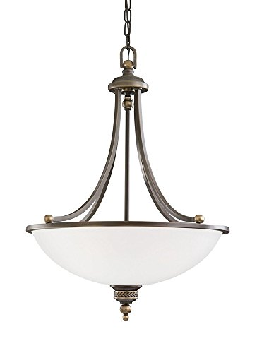 Sea Gull Lighting 65351EN3-708 Three Light Pendant, Estate Bronze