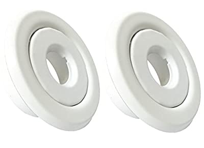 """Happy Tree (2 Pack) 1/2"""" IPS Fire Sprinkler Head Standard Recessed Escutcheon Two Piece Rosette White Painted Cover"""