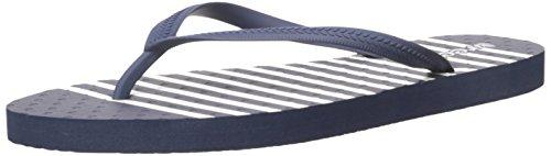 Reef Women's Chakras Prints Flip Flop, Navy/Stripe, 8 UK Navy Stripe