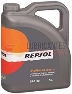 ACEITE REPSOL SA30 5LTS EL MEJOR PARA ENGRASE MOTOSIERRA: Amazon.es: Coche y moto