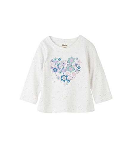 Hatley Baby Girls Mini Graphic Long Sleeve Tees, Blooming Heart, 18-24M (Hatley Heart)