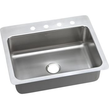Elkay PSSR2722MR2 20 Gauge SS 27'' x 22'' x 7.5'' One Bowl Dual Mount Kitchen Sink by Elkay by Elkay