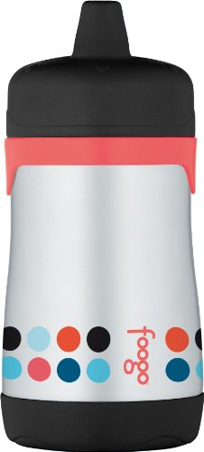 THERMOS FOOGO Vacuum Insulated Stainless Steel 10-Ounce Hard Spout Sippy Cup, Poppy Patch Pattern (Sippie Cups For Toddlers compare prices)