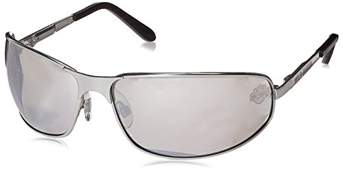 7e50d8c8824 Harley-Davidson HD503 Safety Glasses with Silver Matte Frame and Silver  Mirror Tint Hardcoat Lens (B004HMC8I4)