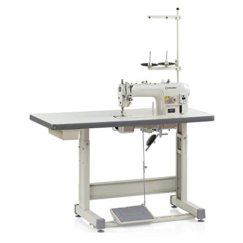 Reliable 3300SD Single-Needle Lockstitch Drop Feed Industrial Sewing Machine with Direct Drive Servo Motor, 4,500-RPM, Automatic Lubrication with Pump, LED Light, Needle Guard, Digital Control ()