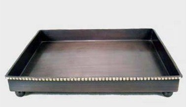 3SCompany Sunset Amenity Tray Oil Rubbed Bronze Finish with Antiqued Brass Bead Accent 7''x9''x1'' by 3SCompany