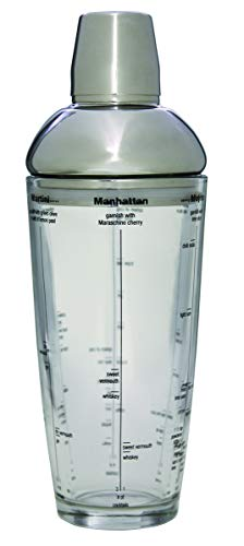 Tablecraft H2400T Stainless Steel Top Boston Shaker, Gray